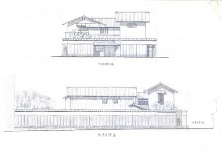元誓願寺通の家:計画案
