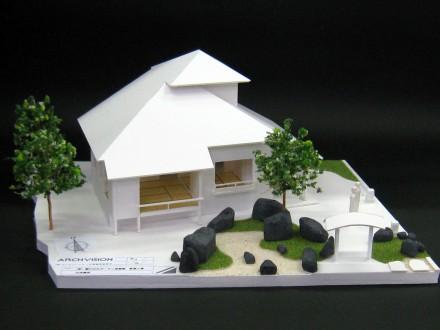 美山白石の家:スタディ模型